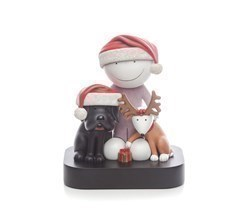 Ho Ho Ho  by Doug Hyde - Cold Cast Porcelain sized 8x9 inches. Available from Whitewall Galleries